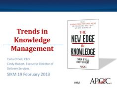 trends-in-knowledge-management-16604522 by SIKM via Slideshare