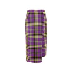 Long Tartan Kilt – House of Holland (2.910.590 IDR) ❤ liked on Polyvore featuring skirts, high waisted long skirt, long midi skirt, long skirts, purple maxi skirt and high-waisted skirts