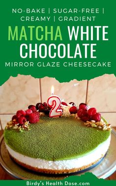 I thought yesterday to surprise you for today, to pamper your taste buds with a fabulous cake, both in appearance and taste, a summer no-bake, sugar-free, creamy, gradient, Matcha white chocolate cheesecake, covered with a fabulous matcha mirror glaze. Lifestyle Group, Healthy Lifestyle, Chocolate Mirror Glaze, White Chocolate Cheesecake, Taste Buds, Matcha, Sugar Free, Health Tips, Yummy Food