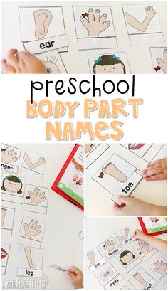 Read about the parts of the body, then use word cards to read and match to each picture. Great for tot school, preschool, or even kindergarten!