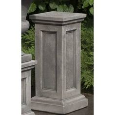 Raise your planter up with the Campania International Lenox Cast Stone Pedestal adding height in mere minutes. Gaylord Boxes, Urn Planters, Humming Bird Feeders, Cast Stone, Garden Stones, Mold Making, Travertine, It Cast, Outdoor