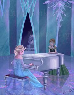 This Frozen piece was based on a request by ! Elsa Let it go for Anna Princesa Disney Frozen, Disney Princess Frozen, Disney Princess Pictures, Disney Pics, Anna Frozen, Frozen Fan Art, Frozen Book, Jack Frost, Big Hero 6