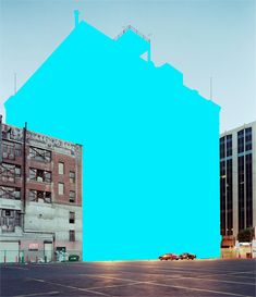 Color-Block Building Photographs by Mauren Brodbeck