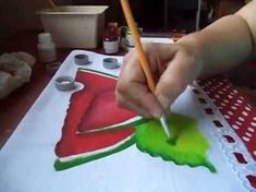 Acrylic Painting Flowers, Tole Painting, Fabric Painting, Fabric Art, Painting On Wood, Painting & Drawing, Painting Videos, Easy Paintings, Concrete Crafts