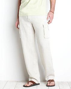 Tommy Bahama Men's Pants, Linen Pants, Dress Pants. I have these in linen and silk. Tommy Bahama allows casual cool, without even thinking about it. Almost every item can be worn with its corresponding piece. This is done because they stay in a family realm of colors. I've used this masculine line, as the jumping point for my home.