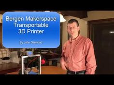 Packing up the Bergen Makerspace Transportable Printer John Diamond, Home 3d Printer, Spool Holder, Cnc Parts, Prusa I3, 3d Printer Designs, 3d Cnc, 3d Printing, Diy
