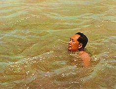 Mao Zedong going for a swim