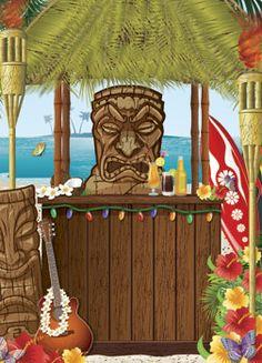 awesome hawaii party | Hawaiian pool party vector art - Download Luau vectors