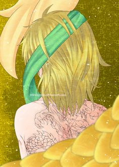 okay, time for Zeno, Ouryuu (yellow dragon) btw-- zeno is a 15 years old boy LOL. i have some weird parts-- but oh well... /runs/ the Tattoo sample another character: Princess Yona Hakuryuu Kija Se...