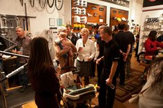 Guests enjoying our Greenwich CT Studio opening party