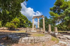 The Archaeological Site of Olympia, established in a natural setting of beauty and serenity, has one of the highest concentrations of masterpieces from the ancient Greek world #Unesco #Olympia #Peloponnese #Greece #Monterrasol #travel #privatetours #customizedtours #multidaytours #roadtrips #travelwithus #tour #nature #architecture #art #photographer #thisisgreece #destination #tourism #sport #greek #olympic #games #olympicgames #Zeus #museum #history #archaeology #beauty #culture… Ancient Greek Architecture, Architecture Old, Architecture Student, Olympia Stadium, Olympia Greece, Ancient Olympics, Circular Buildings, Architect Jobs, Beste Hotels