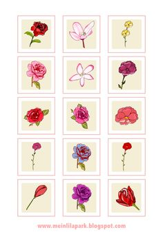 FREE flower printables ( - perfect for envelope seals and deco tags)