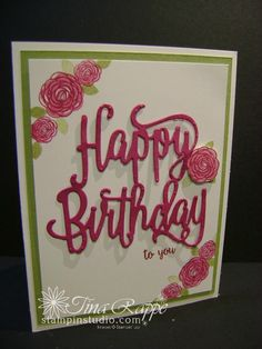 Stampin' Up! Happy Birthday Gorgeous Bundle, Happy Birthday Gorgeous stamp set, Happy Birthday Thinlits, Stampin' Studio