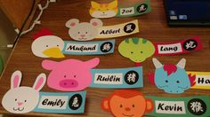 Chinese Zodiac Door Decs for Chinese House!