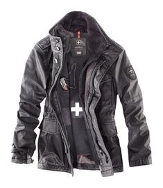 Strellson Winter Jackets Strellson Swiss Cross Revival Jacket by PiaD Fashion Mode, Urban Fashion, Mens Fashion, Fashion Outfits, Tactical Clothing, Winter Wear, What To Wear, Cool Outfits, Winter Jackets