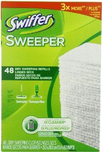 Swiffer Sweeper Dry Sweeping Cloth Refills, 48 Count  Order at http://www.amazon.com/Swiffer-Sweeper-Sweeping-Cloth-Refills/dp/B0035G075O/ref=zg_bs_15342811_39?tag=bestmacros-20