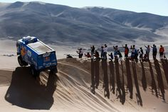 Copiapo, Chile Andrey Karginov, Andrey Mokeev and Igor Leonov of Russia for Team Kamaz Master compete during day 4 of the Dakar Rally on January 2015 between Chilecito in Argentina to Copiapo, Chile. Pictures Of The Week, Cool Pictures, Master Truck, Sport Photography, Pavement, Great Photos, A Team, South America, Rally