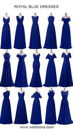 Dusty blue bridesmaid dresses cheap affordable for all sizes - Wedding Colors Peacock Bridesmaid Dresses, Royal Blue Bridesmaid Dresses, Royal Blue Dresses, Prom Dresses, Wedding Dresses, Bridesmaid Outfit, Cheap Dresses, Bridal Gowns, Designer Dresses