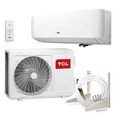 TCL CE 12000 BTU Split Klima Klimaanlage Klimagerät A++ (Halter, Goldbeschichtung, Quick-Connector + 4m Leitungen)