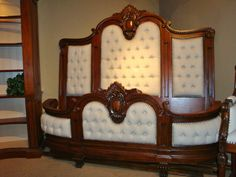 Handcarved Massive Elegant King Linen Tufted Bed Mahogany Stained at ebay: http://www.ebay.com/itm/Handcarved-Massive-Elegant-King-Linen-Tufted-Bed-Mahogany-Stained/161014146601?_trksid=p2047675.c100005.m1851&_trkparms=aid%3D222007%26algo%3DSIC.MBE%26ao%3D1%26asc%3D27538%26meid%3D039404db0f1649b7b6d9eed84ed1065d%26pid%3D100005%26prg%3D11353%26rk%3D1%26rkt%3D6%26sd%3D150738604977&rt=nc $5400