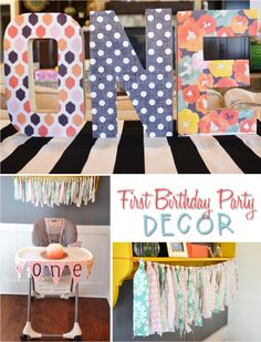 Time Flies Little Girl First Birthday Party Ideas And Decorations Baby 1st