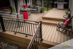 Patio Ste-Marthe-sur-le-Lac – Pur Patio Patio Ste-Marthe-on-the-Lake – Pure Patio Cool Deck, Diy Deck, Patio Deck Designs, Patio Design, Porch Designs, Building A Porch, Building A House, Building Plans, Patio Plans