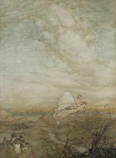 """Arthur Rackham - """"A fairy sent"""""""