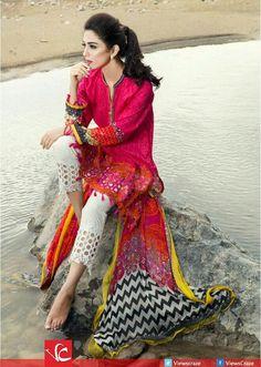 maria b designer eid dresses with best prices Pakistani Fashion Casual, Pakistani Dresses Casual, Eid Dresses, Pakistani Suits, Indian Dresses, Asian Fashion, Indian Outfits, Casual Dresses, Dresses 2016