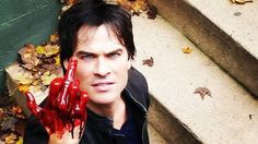 Ian Somerhalder as Damon Salvatore on TVD