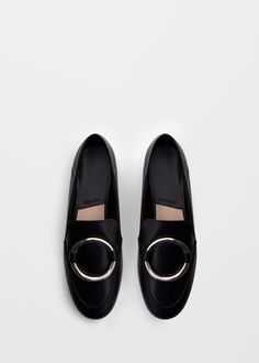 Leren loafers met appliqué   MANGO