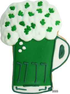 Green beer cookies... do I need to remind you what happens when you drink too much green beer...