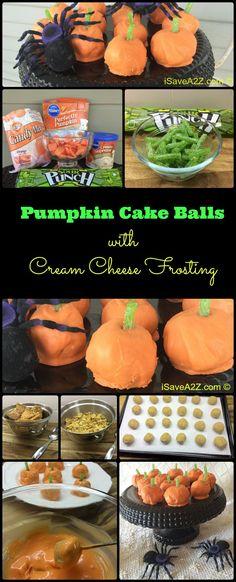 Pumpkin Cake Balls with Cream Cheese Frosting Recipe - iSaveA2Z.com