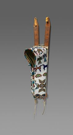 Date: ca. 1890 Geography: United States, North or South Dakota Culture: Lakota (Teton Sioux) Medium: Wood, rawhide, glass beads, native-tanned leather, muslin, brass tacks, silk ribbon, cotton cloth