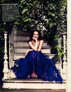 Happy Birthday #JessicaBrownFindlay British Vogue August 2011  Jessica wears Valentino, photographed by Jason Bell #vogue #valentino #fashion #downtonabbey