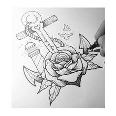 Safe Home #sketch #drawing #macfineline  #macfinelinesketch #rose #anchor #birds #linework #linetattoo #dotwork #fineline #finelinesketch #copic #berlin #homeoffice #evening #währendihrchillt #selbstständigheißtselbstundständig #zeichnung #anker #lighttower #leuchtturm #maritim #rose #ankerzeichnung #zuhauseistwodasherzschlägt #safehome