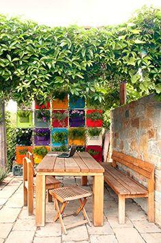 The Green Pockets AMMA 1 - A16, Purple, Vertical Garden, Indoor/Outdoor Living Wall Planter Vertical Garden, Hanging Wall Planter, Wall pocket, Wall garden: Amazon.co.uk: Kitchen & Home