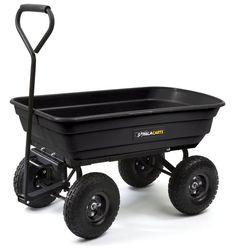 Gorilla Heavy Duty Wheelbarrow Large Garden Wagon Trailer Cart Landscaping Tools