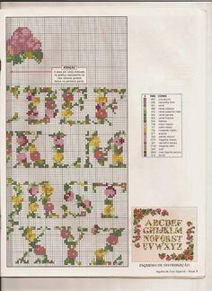 Revistas de manualidades Gratis: Graficos de rosas en punto de cruz