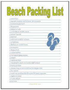 The Best Beach Vacation Packing List  Tips For Families  Beach
