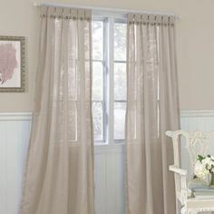 Laura Ashley® Easton Button 42-Inch x 84-Inch Decorative Window Panel - BedBathandBeyond.com
