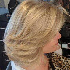 Blonde Lob With Layers