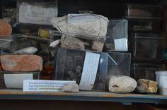 Roche nomade au cœur d'une collection de souvenirs géologiques. Richard Côté, de Saint-Jérôme, y accumule depuis 25 ans des roches provenant de nombreux voyages. Photo : Richard Côté. Pour plus de détails sur le projet Roches nomades : www.museelaurentides.ca/roches-nomades
