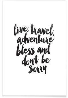 Live Travel Adventures als Premium Poster von THE MOTIVATED TYPE | JUNIQE