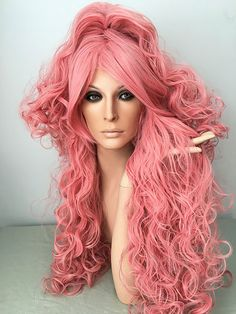 Vocaloid Luka Pink, long, curly, wig