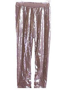 Biscotti's Silver Sequin Leggings (44 dollars), fully lined so there's no scratchiness