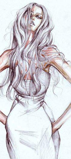 Fashion Illustration by elena sofia Fashion Illustration Sketches, Illustration Mode, Fashion Sketchbook, Fashion Sketches, Drawing Sketches, Pencil Sketching, Drawing Faces, Art Illustrations, Drawing Tips