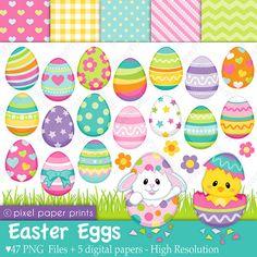 He encontrado este interesante anuncio de Etsy en https://www.etsy.com/mx/listing/181215798/easter-eggs-clip-art-and-digital-paper