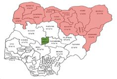 map of nigeria showing 36 states and capital - Google Search | MAPS ...