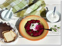 Céklás humusz Fruits And Vegetables, Palak Paneer, Guacamole, Acai Bowl, Pudding, Mexican, Breakfast, Ethnic Recipes, Desserts