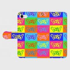 カラフルヤバイiPhone7用手帳型スマホカバー | ハンドメイドマーケット minne Phone Cases, Phone Case